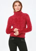 Bebe Eyelash Turtleneck Sweater