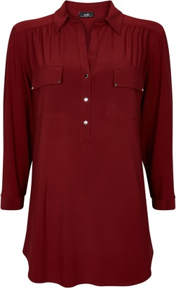 Wallis Berry Button Detail Shirt