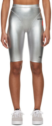 Adidas Originals By Alexander Wang Silver Metallic Bike Shorts