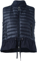 Moncler hooded padded front gilet - women - Polyamide/Cotton/Polyester/Goose Down - S
