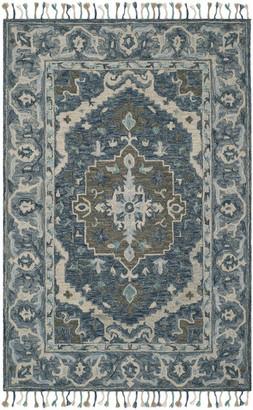 Safavieh Aspen Collection APN230 Rug, Dark Blue/Grey, 5'x8'