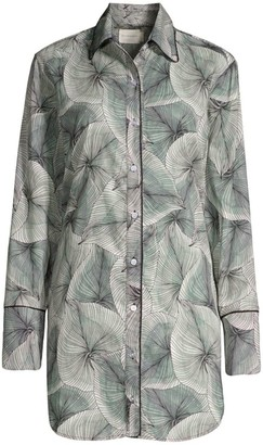 Maison du Soir Sam Palm-Leaf Sleepshirt