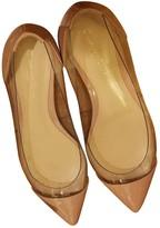 Gianvito Rossi Plexi Beige Patent leather Ballet flats