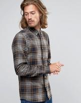 Asos Regular Fit Shirt With Marl Print In Brown