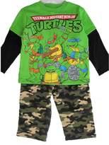 Nickelodeon Little Boys Ninja Turtles Camouflage 2 Pc Pants Set