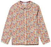 Cyrillus Floral Peter Pan Collar Blouse