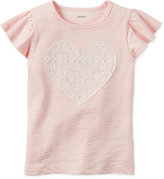 Carter's Lace Heart Cotton T-Shirt, Toddler Girls (2T-5T)
