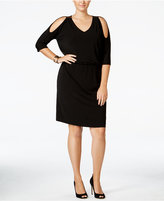 INC International Concepts Plus Size Cold-Shoulder Sheath Dress, Only at Macy's