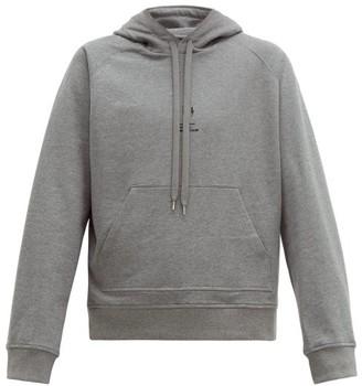 Neil Barrett Logo Print Cotton Hooded Sweatshirt - Mens - Grey