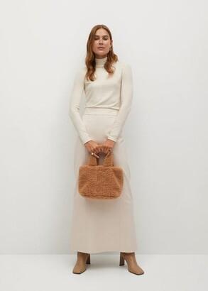 MANGO Flared long skirt