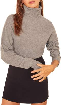 Reformation Cashmere Blend Boyfriend Turtleneck Sweater