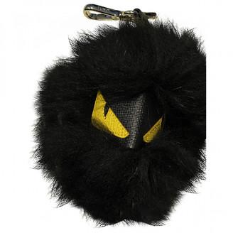 Fendi Pompon Black Faux fur Bag charms