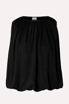 Totême Maida Draped Stretch-jersey Top - Black