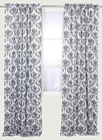 Bacati Classic Damask White/black Curtain Panel by