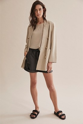 Country Road Linen Relaxed Blazer