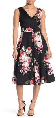 Love...Ady Floral Scuba Midi Dress