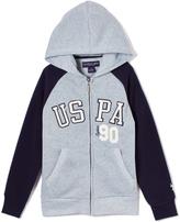 U.S. Polo Assn. Light Heather Gray 'USPA' Fleece Raglan Hoodie - Boys