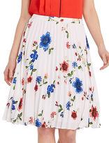 Ellen Tracy Petite Trompe Loeil Garden Petite Sunburst Pleated Skirt