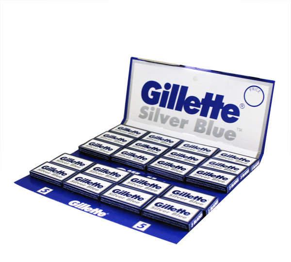 Gillette Silver Blue Double Edge Razor Blades - 100 Pack by 100 Razor Blades)
