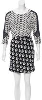 Rag & Bone Arrow Print Silk Dress