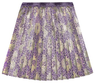 Gucci Kids Pleated brocade skirt