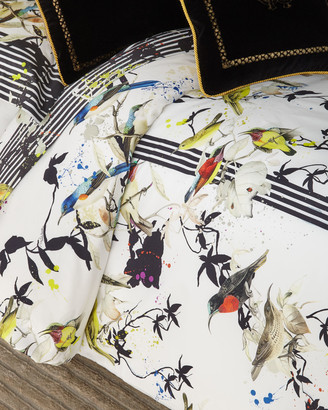 Roberto Cavalli Birds Ramage Queen Duvet Cover