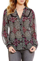 KUT from the Kloth Camila Button Front Printed Blouse