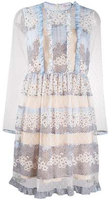 RED Valentino floral panel dress