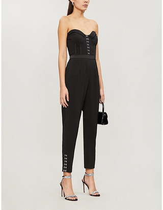 Lavish Alice Strapless stretch-woven jumpsuit