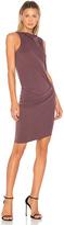 Halston Mock Neck Draped Dress in Purple. - size 0 (also in 2,6)