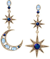 Betsey Johnson Mystic Baroque Star Moon Earrings