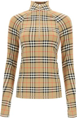 Burberry Vintage Check Long-Sleeve Top