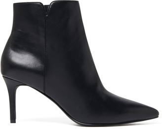 Forever New Blair Pointed Mid Heel Boots - Black - 36