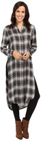 Fate Plaid Maxi Shirt