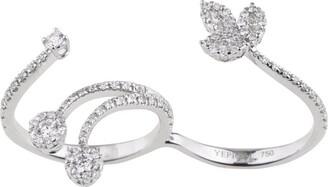 YEPREM White Gold and Diamond Mystical Garden Twisted Ring
