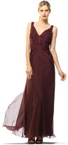 Max Studio Silk Chiffon Evening Gown