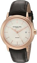 Raymond Weil Men's 2837-PC5-65001 Maestro Analog Display Swiss Automatic Brown Watch
