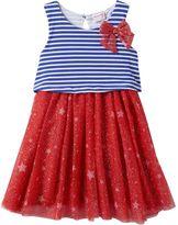 Nannette Toddler Girl Stars & Stripes Popover Dress