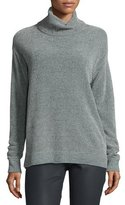 Lafayette 148 New York Oversized Silk Chenille Turtleneck Sweater, Storm
