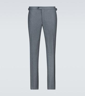 Thom Sweeney Flannel flat front pants