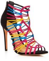 Schutz Women's Naama Caged Suede High Heel Sandals