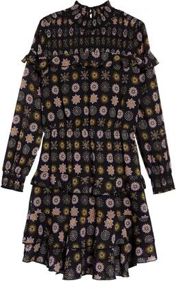 Scotch R'Belle Kids' Floral Print Ruffle Long Sleeve Dress