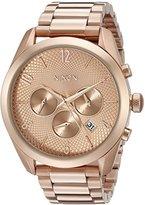 Nixon Women's A366897 Bullet Chrono Analog Display Japanese Quartz Rose Gold Watch