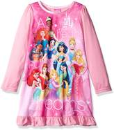 Disney Little Girls' Multi-Princess Nightgown