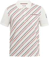 Moncler Gamme Bleu Geometric-embroidered cotton polo shirt