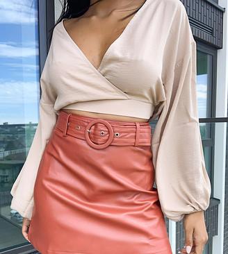 Fashion Union Petite mini skirt in pu