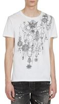 Balmain Short Sleeve Printed Cotton Tee