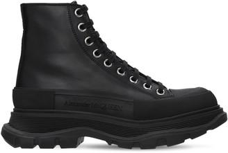 Alexander McQueen 45mm Tread Slick Leather Combat Boots
