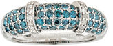 FINE JEWELRY LIMITED QUANTITIES 7/8 CT. T.W. Color Enhanced Blue & White Diamond Sterling Silver Ring