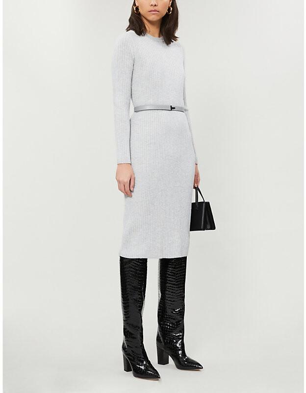 Ted Baker Gjessi stretch-knit midi bodycon dress